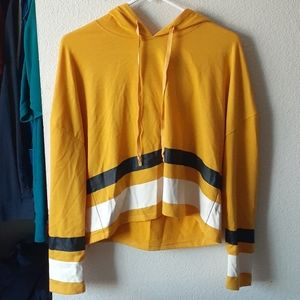Cropped Golden Yellow Hoodie
